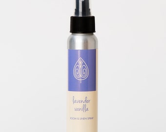 Lavender Vanilla Room and Linen Spray,  Essential Oil Spray, Scented Room Spray, Lavender Spray, Room Freshener, Air Freshener, Deodorizer