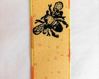 Honeybee Fabric Bookmark