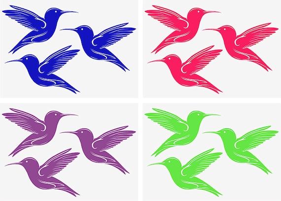 Humming Bird Vinyl Stickers