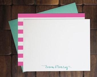 Flat Notecards -- Cursive Name // Custom Notecards // Personalized Stationery // Women's Stationery // Custom Stationery