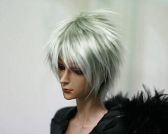 BJD Wig Shaggi Short Cut Khaki 9-10 8-9 7-8 6-7 inch Synthetic Fur Wig
