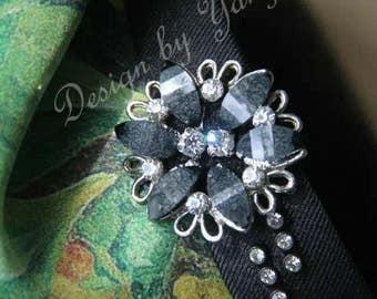 Handmade hairband with faux diamond (Free US Shipping)