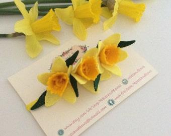 Daffodil headband - Spring Flower Crown Headband - Daffodil Hair Accessory - Felt Flower Headband