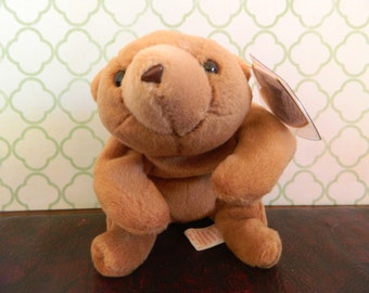 "TY Brown Bear Beanie Baby ""Cubbie"" (B)"