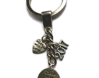 Wedding Favour Keyring, Wedding Favour, Thank you Gift, Wedding Gift, Thank you for sharing our day, 2017 keyring, Party Favours