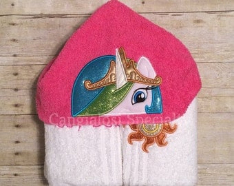My Little Pony Princess Celestia Inspired Hooded Towel/ Baby/Kids/Adult/Baby Shower/Birthday/Christmas/Gift/Bath/Pool/Towel/Summer/Easter
