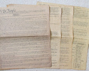 Vintage  Reproduction of the American Constitution