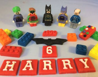 lego batman cake topper batman cake topper etsy 5453