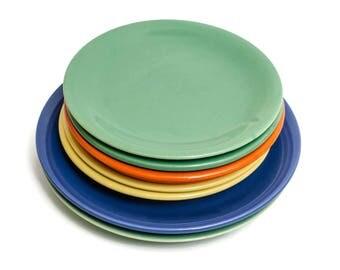 1930s Gladding McBean California Pottery Plates, Lot of 7