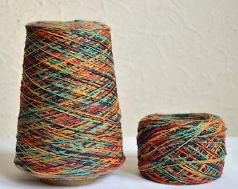 Multicolor italian cotton yarns, 50g / 1,76 oz balls