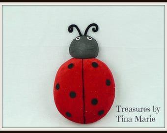 "9"" Ladybug Plush/Wreath Supplies/Spring-Summer Decor/61884RD"
