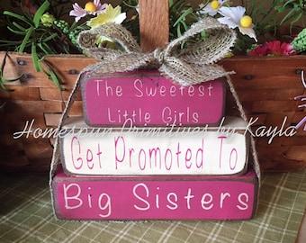 Big Sister Announcement Block Set