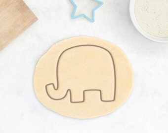 Elephant Cookie Cutter - Animal Cookie Cutter Africa Safari Savanna Cute Giraffe Hippo Rhino Baby Shower Cookies - 3D Printed