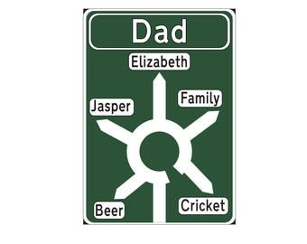 Fathers Day Personalised Road Sign