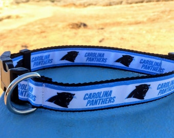 """Carolina Panthers 1"""" Adjustable Dog Collar"""