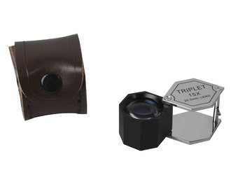 20.5 mm - 15X Chrome/Black Hexagonal Eye Loupe for Precious Metal Jewelry Magnification Inspection Tool - ELP-758.00