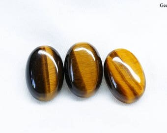 Wholesale Three Tiger's Eye Oval Cabochons 12x8 mm
