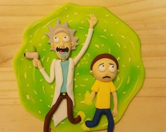 Fondant Rick and Morty