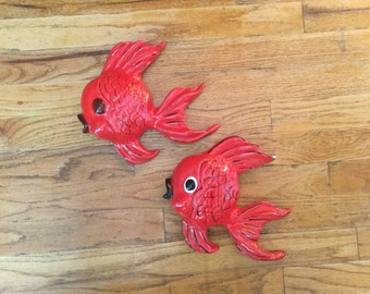 Vintage Ceramic Wall Fish