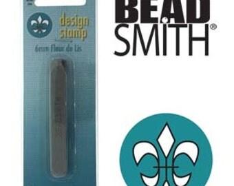 BeadSmith 6mm Fleur De Lis Metal Stamp (LPSD112)