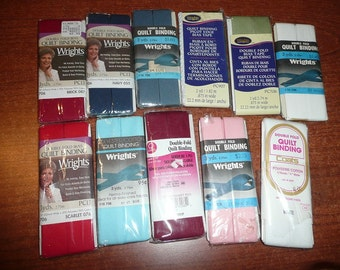 17 Wrights,Coats Quilt Binding Packages, Colors