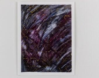 Hearts 'n' Black Print, Abstract Art, Hearts, Heart Artwork, Heart Print, Mixed Media Print, Vintage Abstract Art Print, Heart Art
