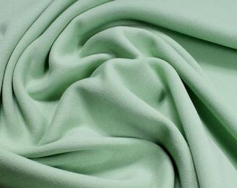 Fabric pure cotton Interlock Jersey pastel green T-shirt Tricot soft stretchy