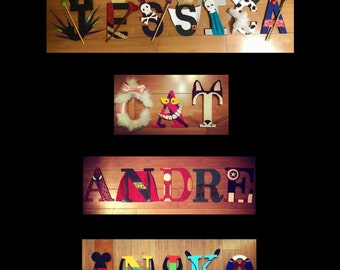 Character Inspired Wooden Letters, Character Letters / Name