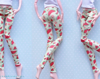 Monster doll clothes Handmade WATERMELON leggins fits EAH\MH