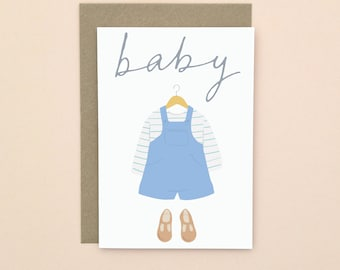 Illustrated New Baby Card A6