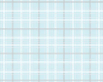 SALE!! 1 Yard When Skies are Grey by Simple Simon and Co. for Riley Blake Designs - 5605 Skies Plaid Blue