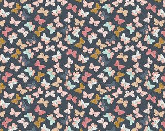 1 Yard Nightfall by Maureen Cracknell for Art Gallery Fabrics-77901 Mothlike Shadows Deep