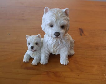 Royal Osborne, Westie (West Highland Terrier) with pup