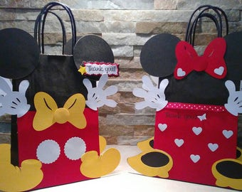 Mickey and Minnie Mouse Goody Bags set of 12