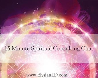 15 Minute Spiritual Consulting Chat