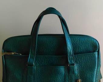 Vintage Turquoise Samsonite Sherbrooke Carry-on Bag/Suitcase/Luggage.