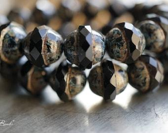 Jet Black, Saucer Beads, Czech Beads, Beads, N2411