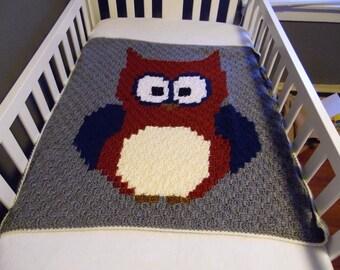 Blanket. Baby owl blaket-baby blanket-owl blanket-crib blanket