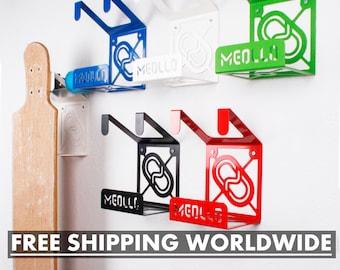 WALL LONGBOARD RACK / Longboard Shelf / Longboard Hanger / Longboard Holder / Longboard Hook / Longboard Perch / Longboard Rack / Bracket