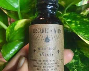 Rose Elixir | Organic + Wildharvested | Tonic, immune support extract / tincture