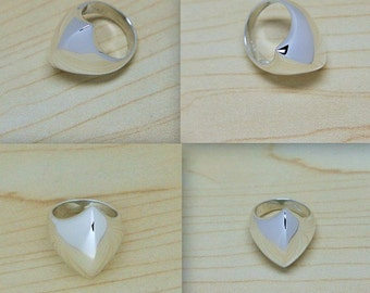 Solid sterling silver ring, modern design