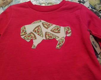 Buffalo pizza tshirt size 3