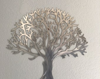 metal tree stainless steel tree wall art wall decor - Metal Tree Wall Decor