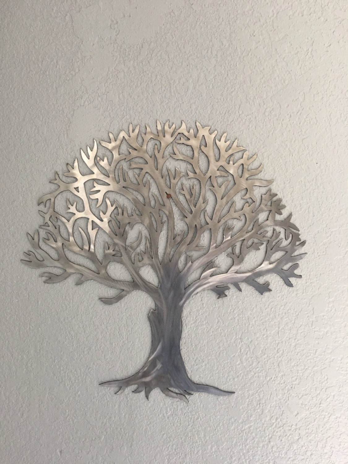 Metal tree stainless steel tree wall art wall decor for Stainless steel wall art
