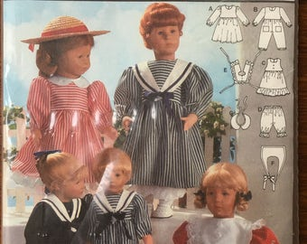 "Burda 4061 Doll Clothes Pattern for 12"" - 22"" Dolls"