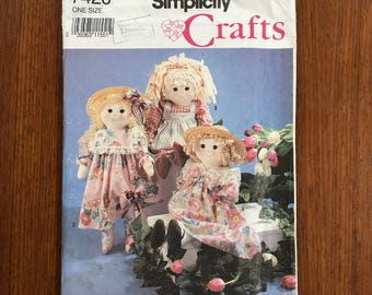 Simplicity Craft Pattern #7420 Rag Doll And Clothing 24 Uncut