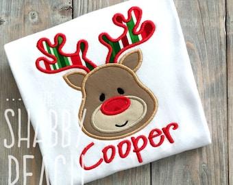 Reindeer Applique Onesie or Shirt