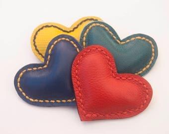 Heart shaped leather magnet