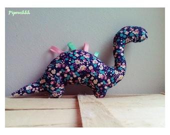 Decoration / Doudou dinosaur blue flowers