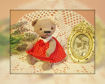Teddy bear Ulenka 19 cm.